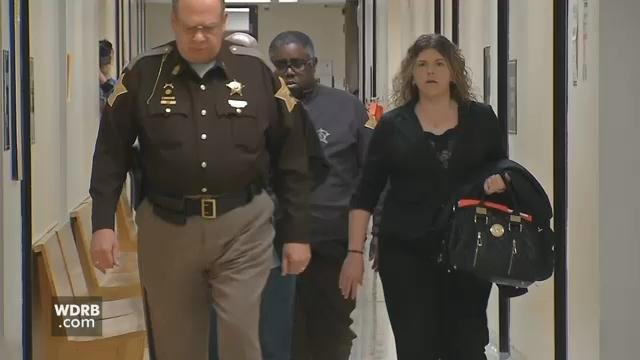 Ericka Fouch appears in Clark County Court for sentencing on March 8, 2018.