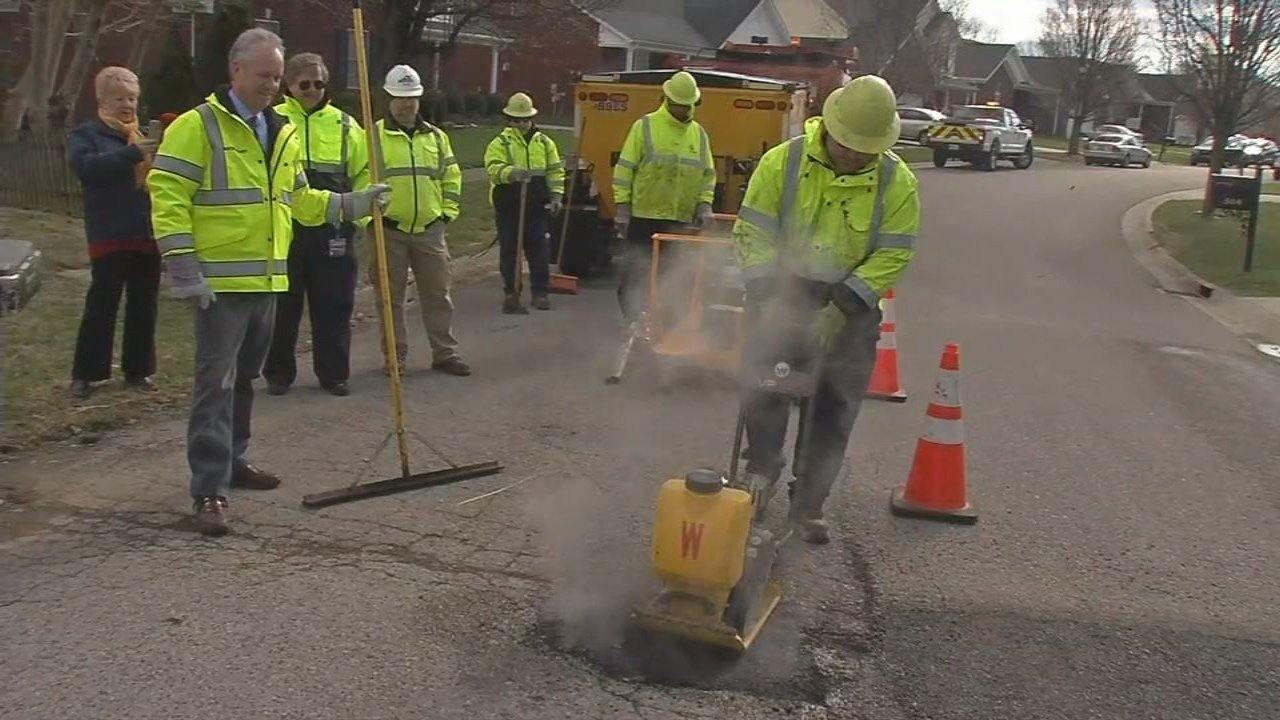 Crews are already fixing major potholes on main roadways, and now they've started to shift their attention to neighborhood streets.