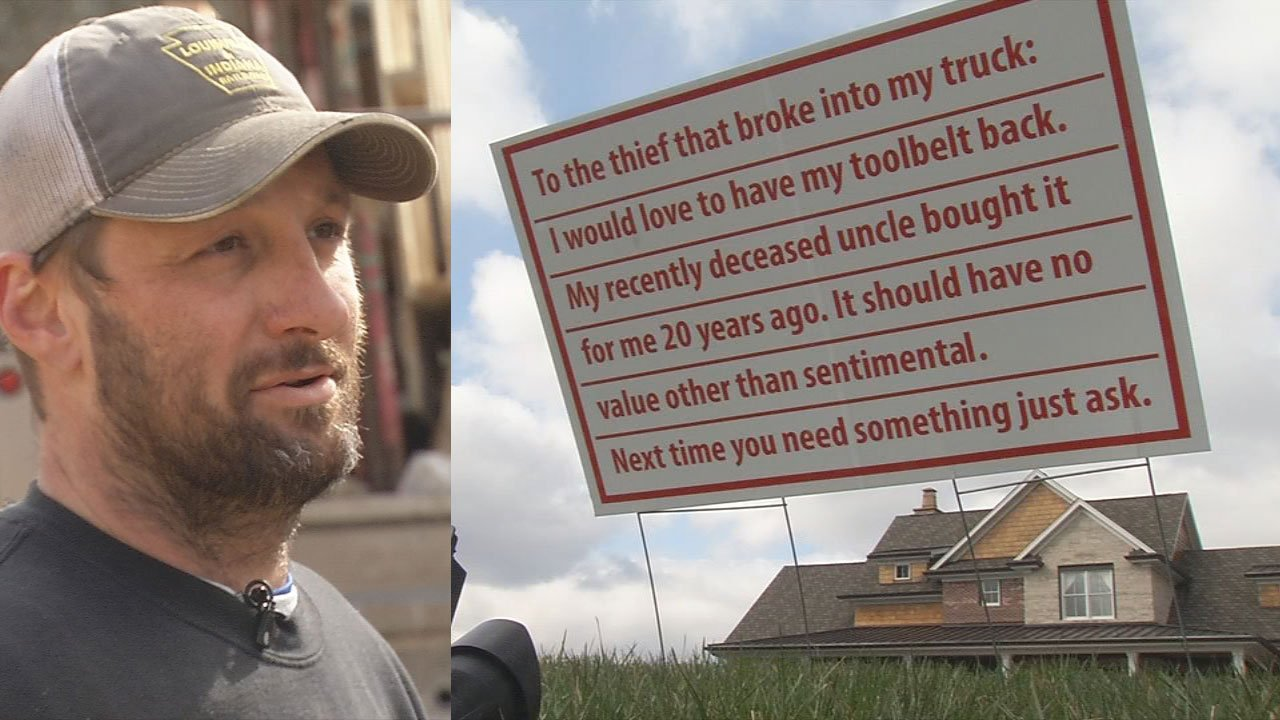 A Floyds Knobs carpenter has a message for the thief who stole a priceless family treasure from his work truck