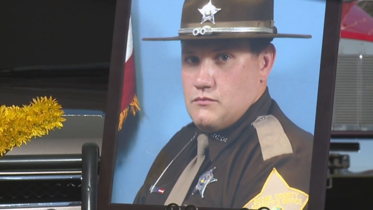 Over 1,000 people packed a Brownsburg, Indiana, church today to say goodbye to Boone County Sheriff's Deputy Jacob Pickett.
