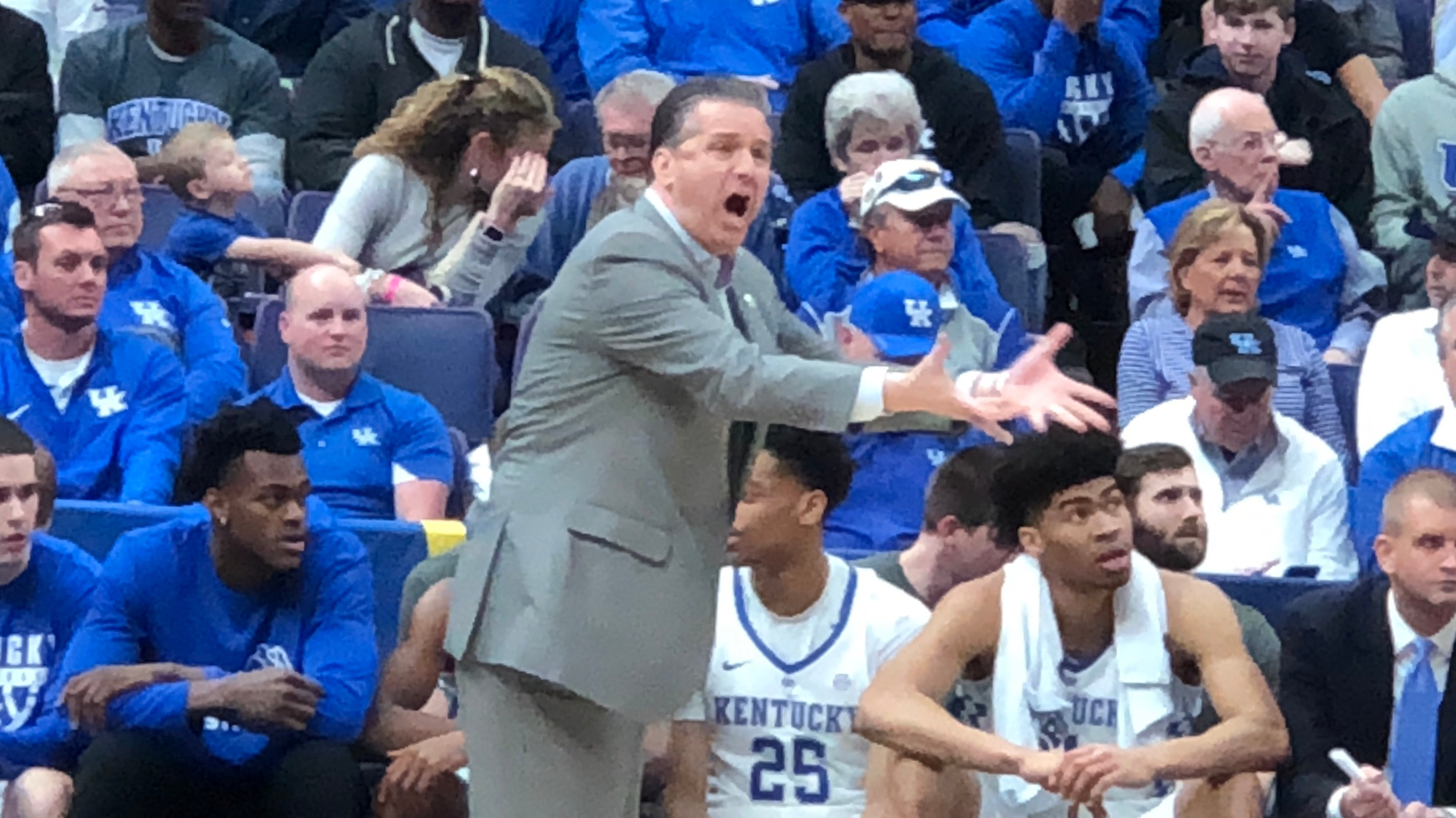 John Calipari's Kentucky team has rolled through its first two SEC Tournament games with outstanding defense.