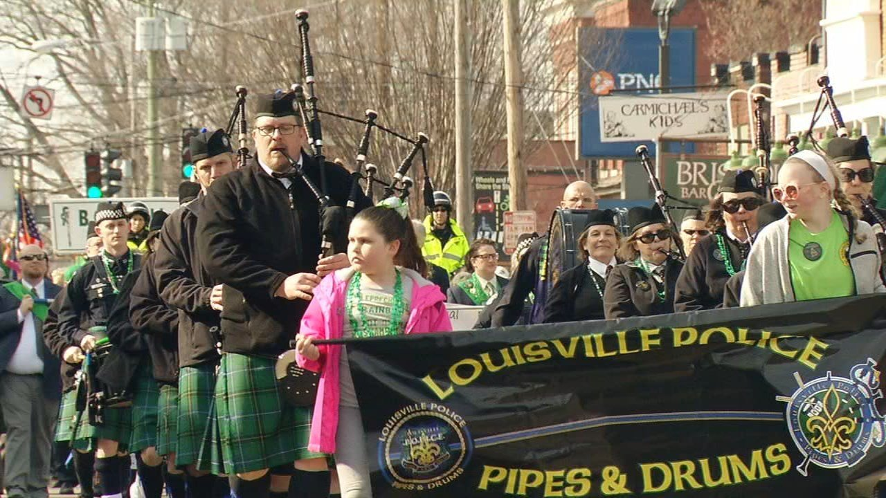 People from all over lined Baxter Avenue and Bardstown Road in the Highlands for the city's annual St. Patrick's Day Parade.