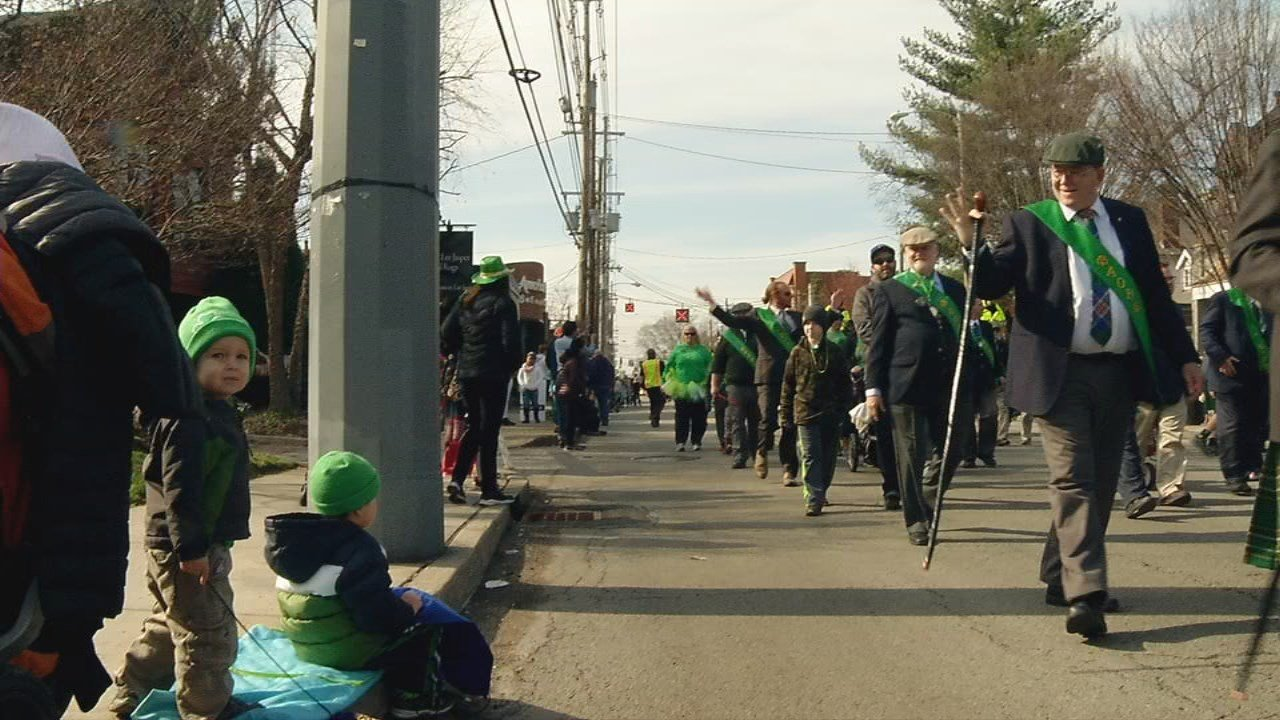 """The parade is put on each year by the Louisville Hibernians. This year's theme was """"Shamrock and Roll."""""""