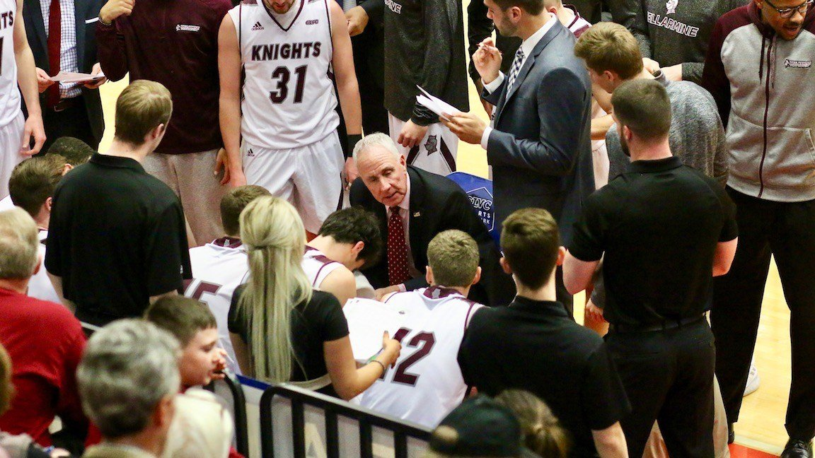 Bellarmine coach Scott Davenport now has won 75 percent of his NCAA Tournament games, a record of 24-8. (WDRB photo by Eric Crawford).