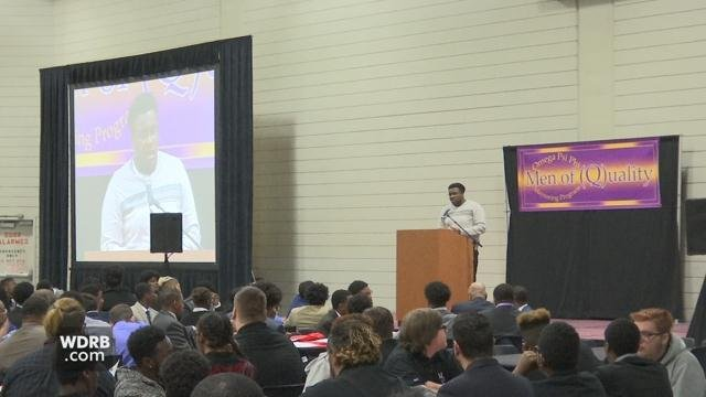 Jefferson County middle and high school students took part in the 22nd Men of Quality Lifestyle Choices Forum at the UofL student activities center on March 13, 2018.
