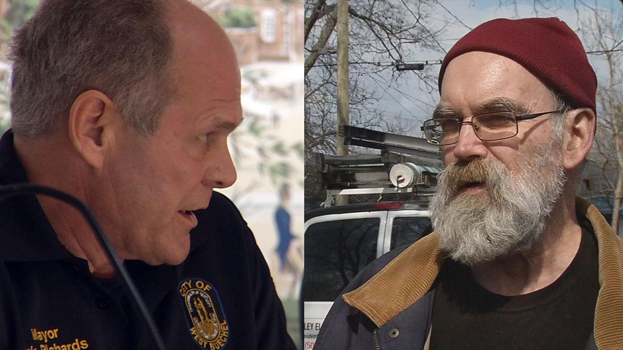 West Buechel Mayor Rick Richards, left, and West Buechel Council Member Tom Fox, right.