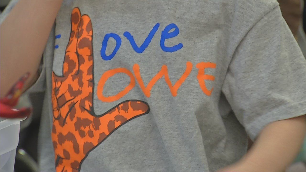 "Students at Lowe Elementary School made Wednesday a ""Kindness Day."""
