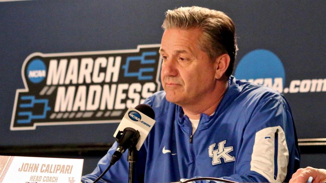 John Calipari meets with reporters in Boise, Idaho. (WDRB photo by Eric Crawford)