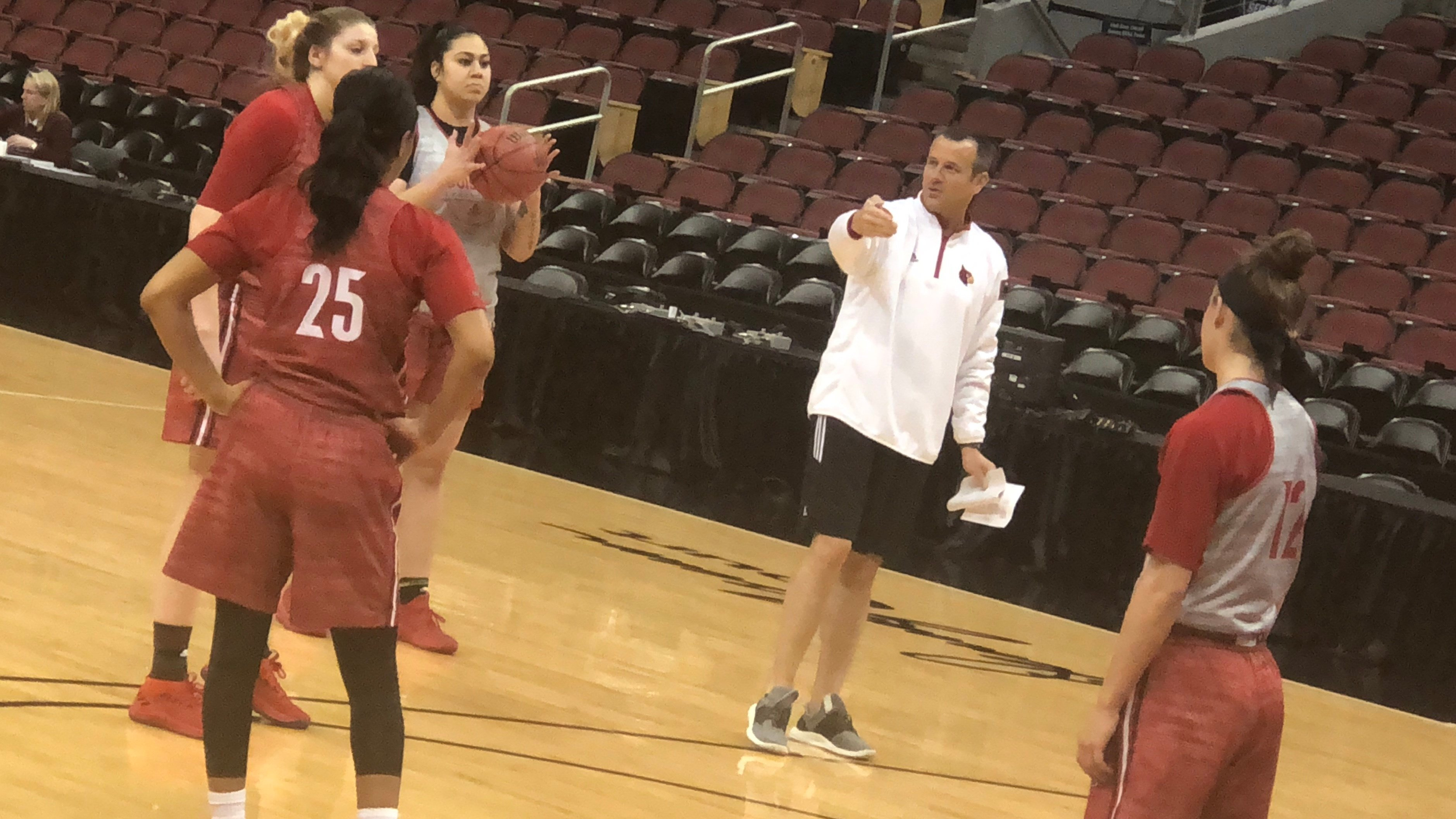 Louisville women's basketball coach Jeff Walz drilled his team for its NCAA Tournament opener against Boise State.
