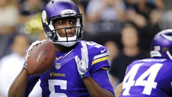 Bridgewater is still looking to return from a serious knee injury in August 2016 that sidelined him for most of the past two years. He threw just two passes last season for the Vikings, including one that was intercepted.