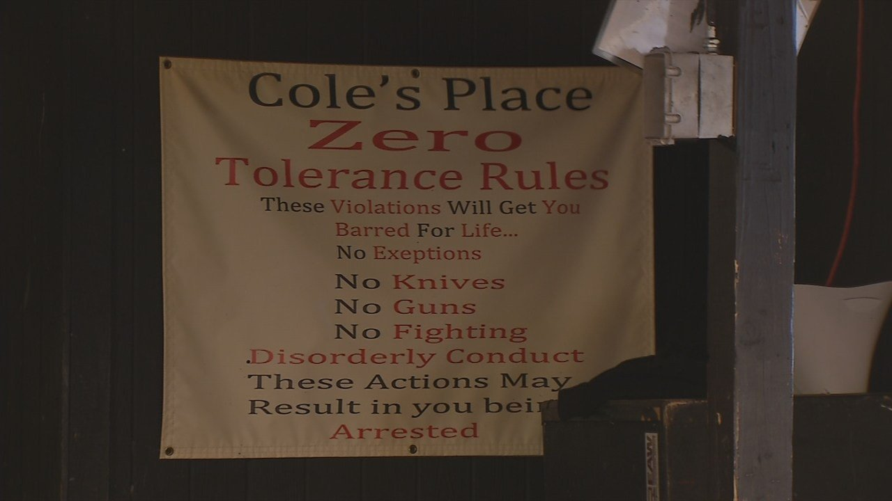 There are also signs posted, and Cole is even known to take matters into his own hands.