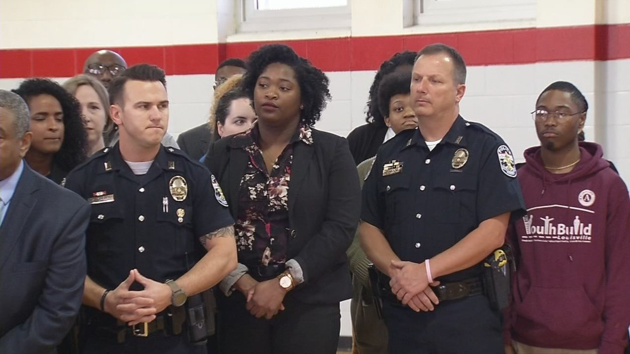 LMPD officers help kickoff National Youth Prevention Week.