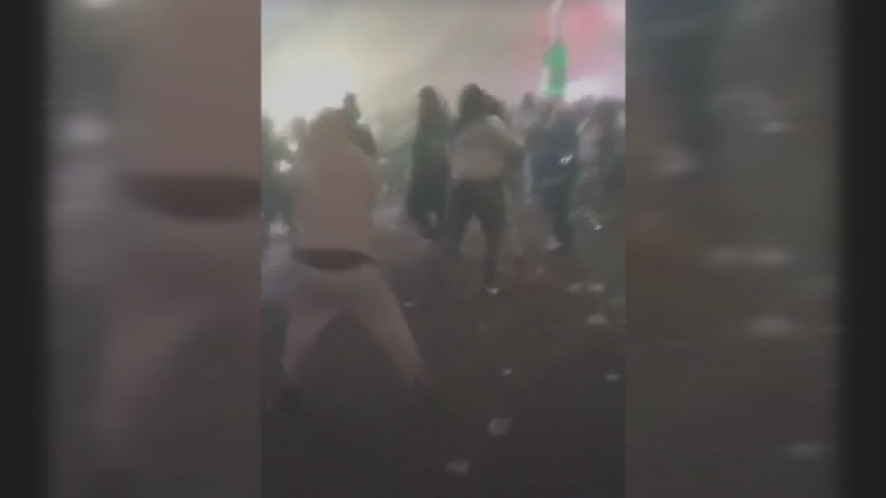 Video showing the aftermath of the shooting show a frantic rush for safety and survival.