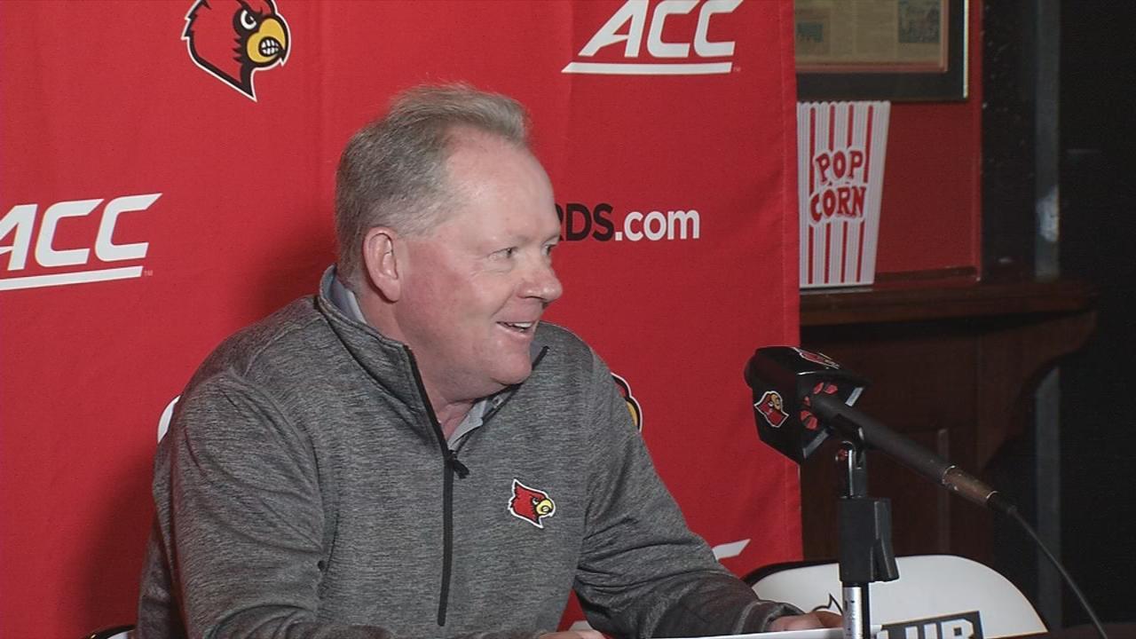 Louisville head football coach Bobby Petrino