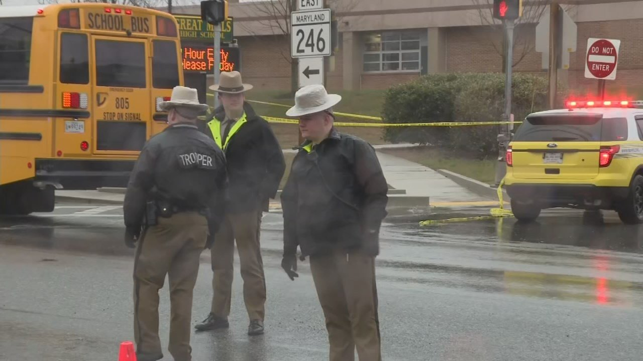 2 injured, shooter killed at a shootng at Great Mills High School in southern Maryland.