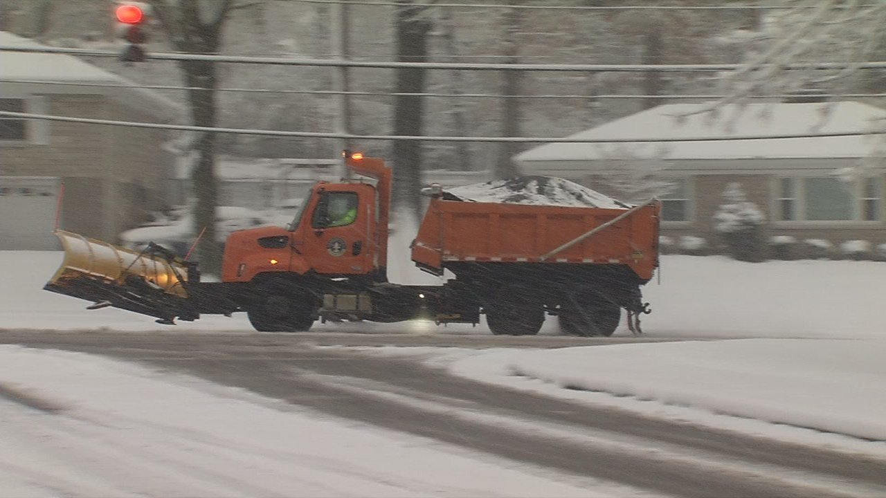 Snow plows worked around the clock to clear the roads.