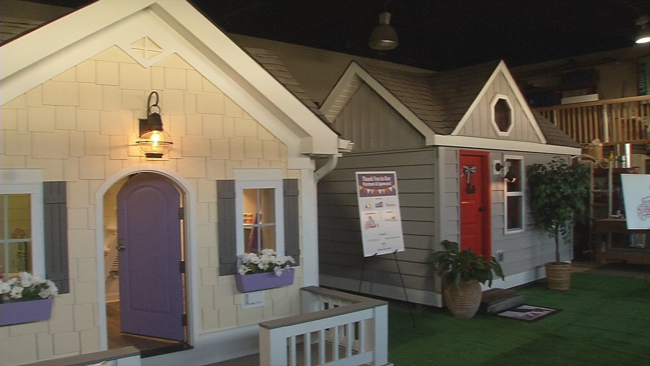 "Kosair Charities revealed new playhouses to 2 ""Kosair Kids."""