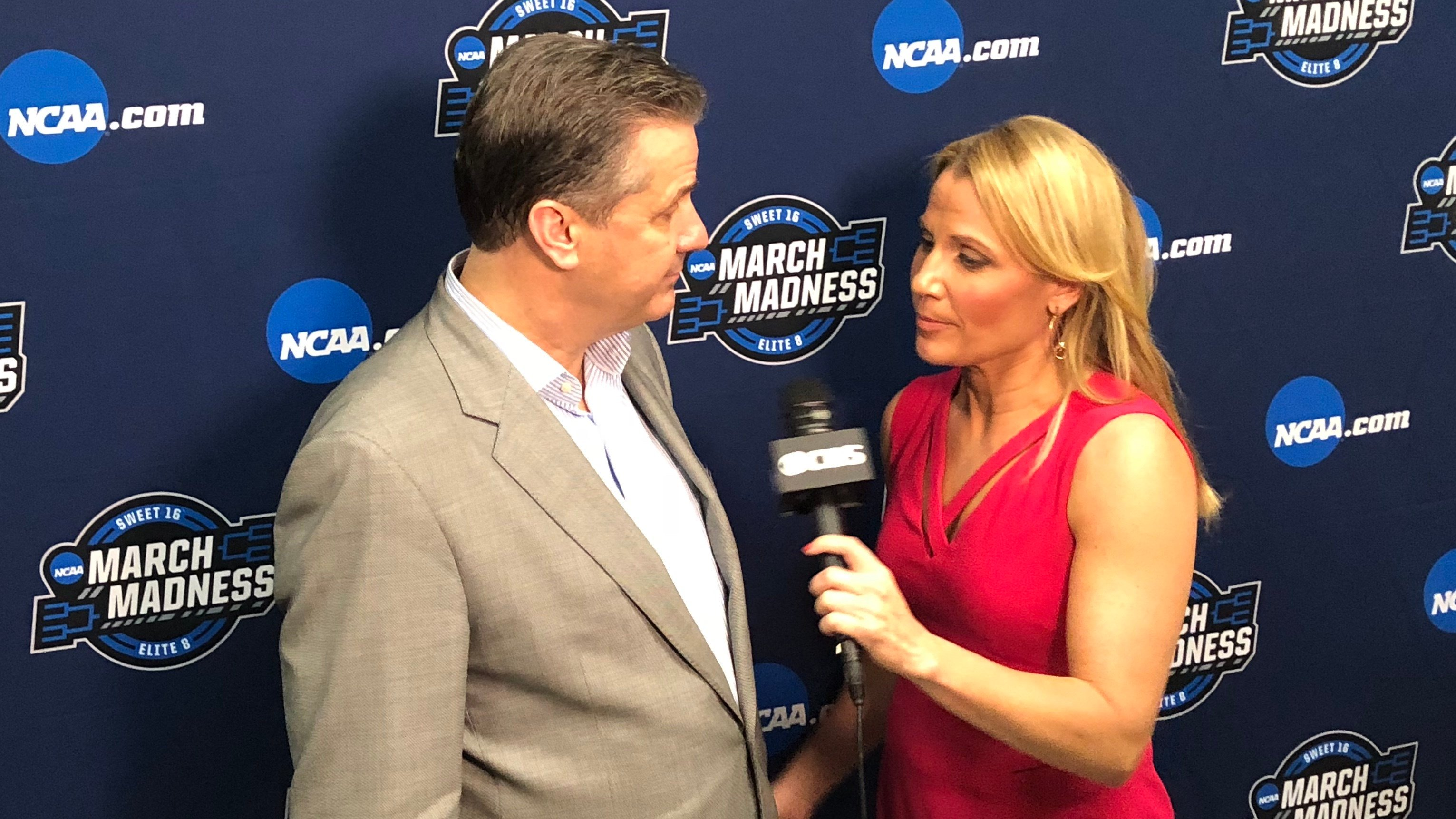 John Calipari explained Kentucky's loss to Kansas State to Lisa Byington of CBS after the game.