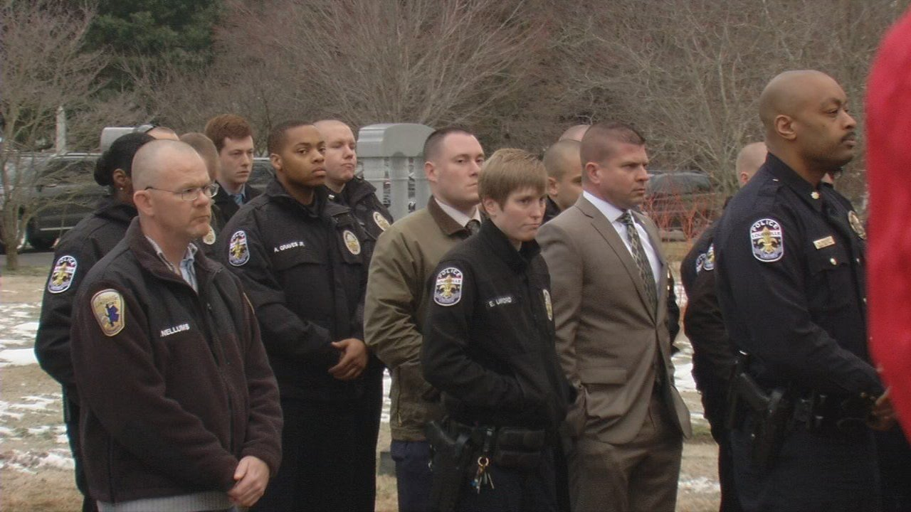 This morning, Cave Hill Cemetery was the gathering place as members of the community gathered to honor his memory. Family, friends and fellow officers bundled up to honor a man who gave his life serving the Louisville community.