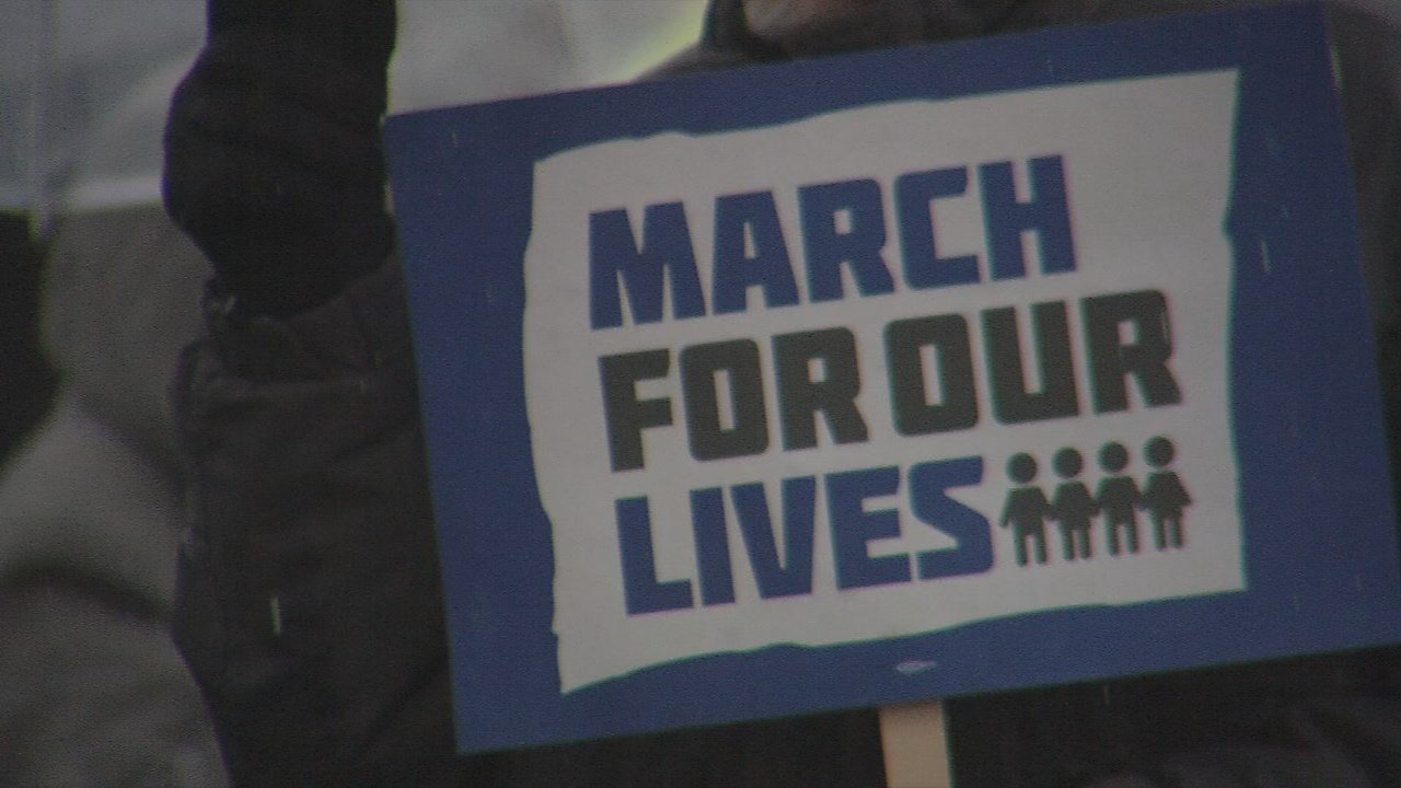 The Indiana protesters are among hundreds of thousands who rallied in the nation's capital and cities across America in one of the biggest youth protests since the Vietnam era.