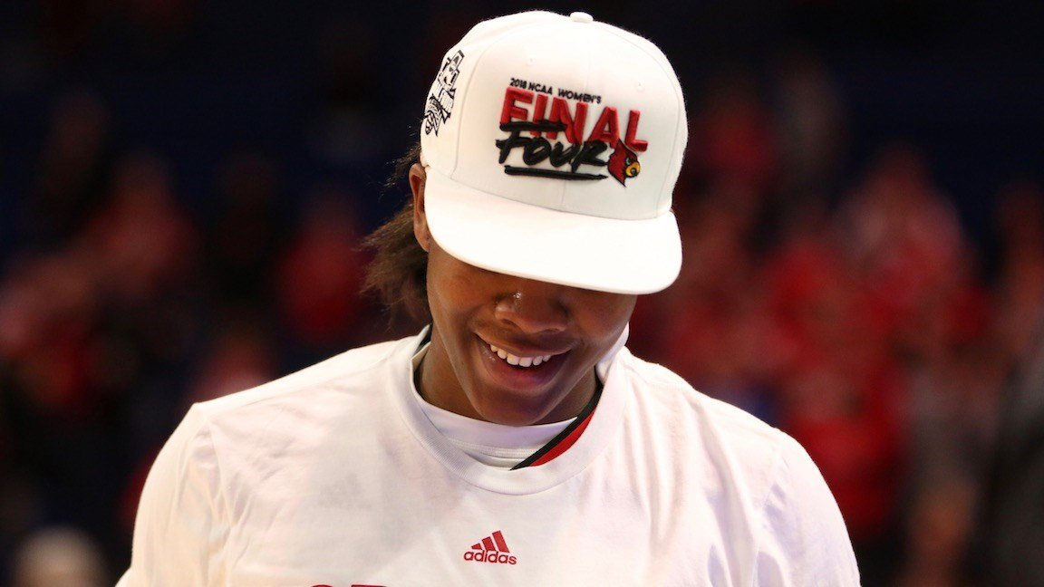 The Louisville women's basketball team is making its third Final Four trip and Myisha Hines-Allen her first. (WDRB photo by Cindy Rice Shelton)