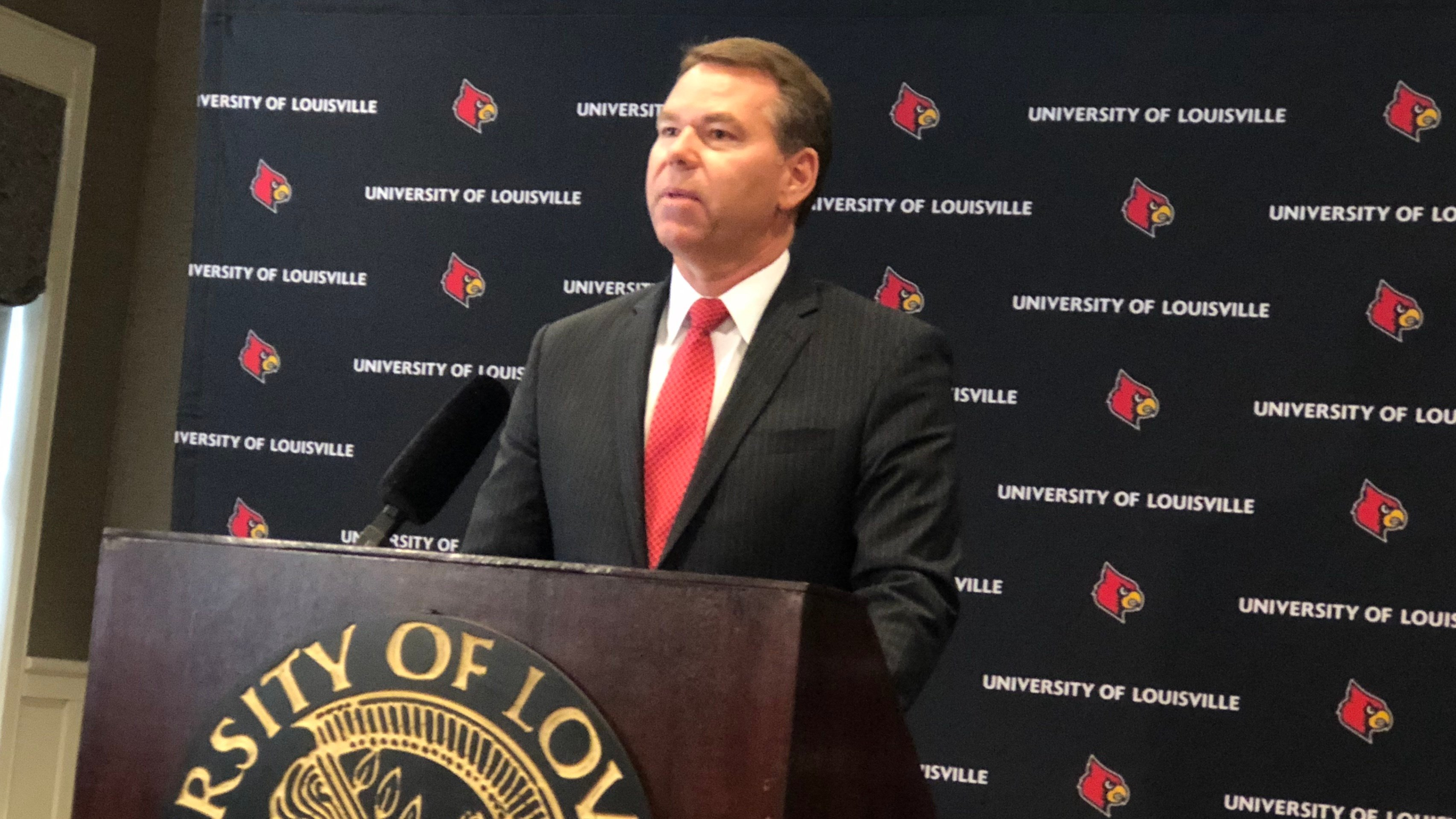 Vince Tyra's first assignment as the Louisville athletic director is to recruit a men's basketball coach.