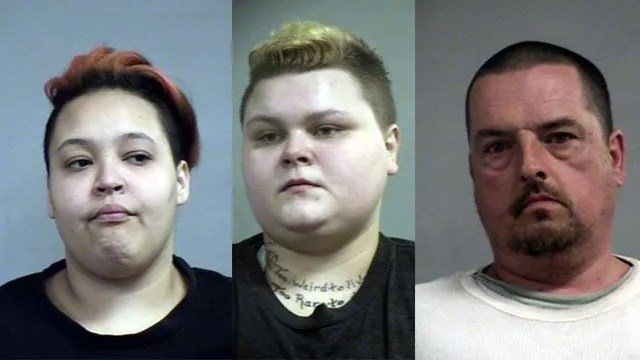 Asia Jewell, Amber Jewell, Evert Baker, left to right (Source: Louisville Metro Corrections)