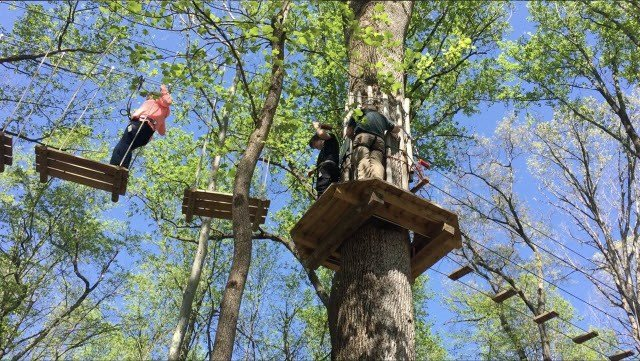 """Zipline Kingdom -- An Adventure at Jefferson Memorial Forest"" -- is scheduled to open this summer."