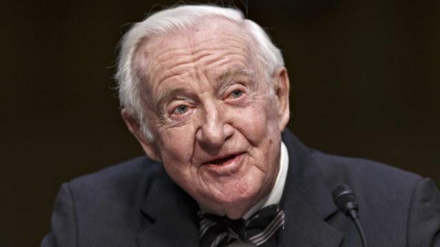 Retired Supreme Court Justice John Paul Stevens (photo source: Associated Press)