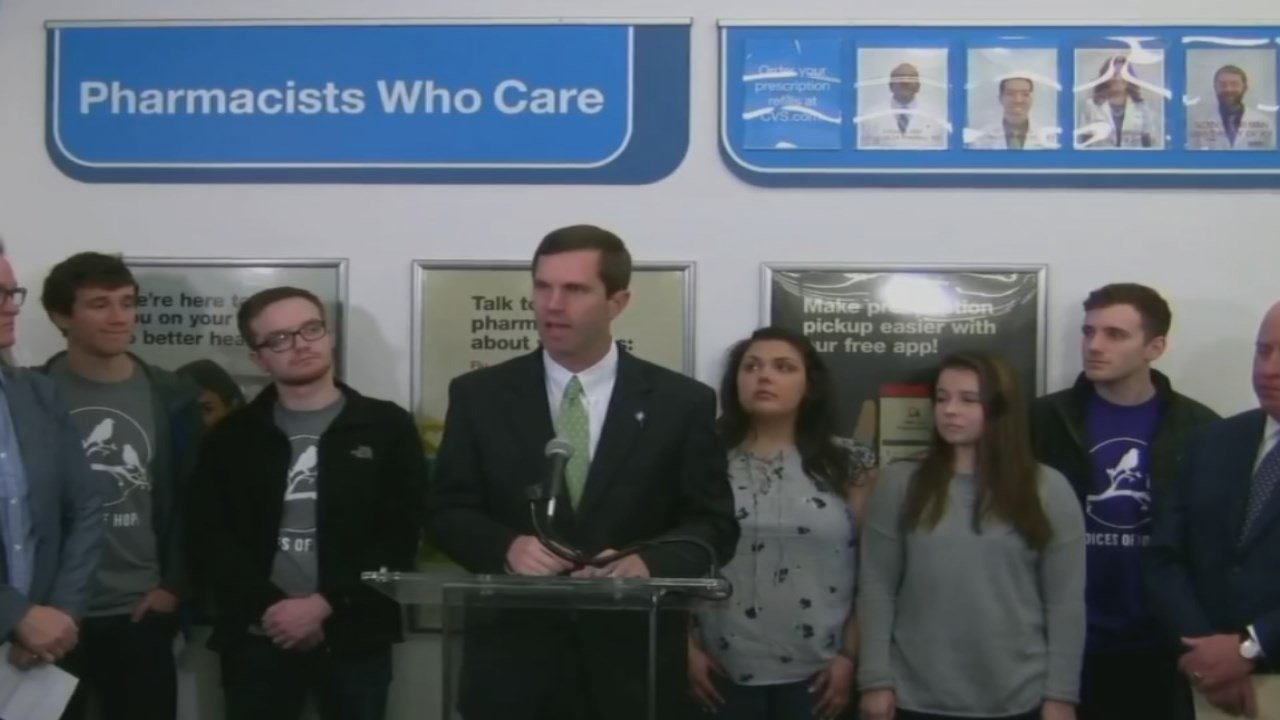 Kentucky AG Andy Beshear says four people die of an overdose in Kentucky each day.