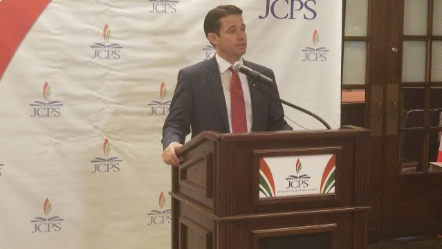 JCPS Superintendent Dr. Marty Pollio announces 5-point plan to move district forward.