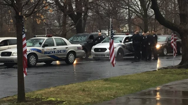 Three lanes of cars packed Cave Hill Cemetery on the anniversary of Officer Nick Rodman's death.