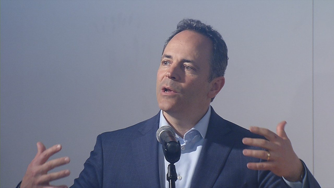 """""""It's learning another language: this language of technology, this language of 21st Century communications and this language of how we weave all these disparate threads together,"""" said Kentucky Governor Matt Bevin."""