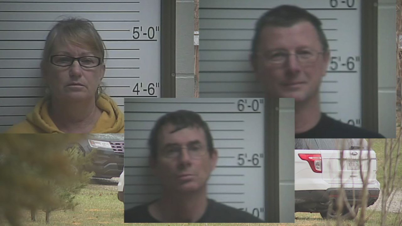 Three people from Brown County, Indiana --Mark, Randall, and Darina Herrin -- were all arrested.