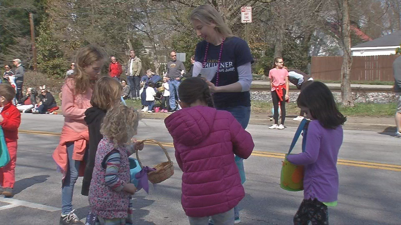 Kids enjoyed free candy, and waved to more than 150 entries walking in the parade.