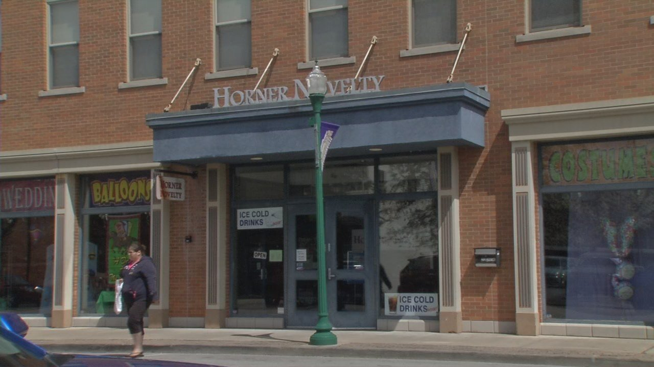 Fewer people are walking into the large Horner Novelty store in Jeffersonville to buy Halloween costumes, or party and bingo supplies, so its owner, Chuck Mattingly, wants to downsize to a smaller store.