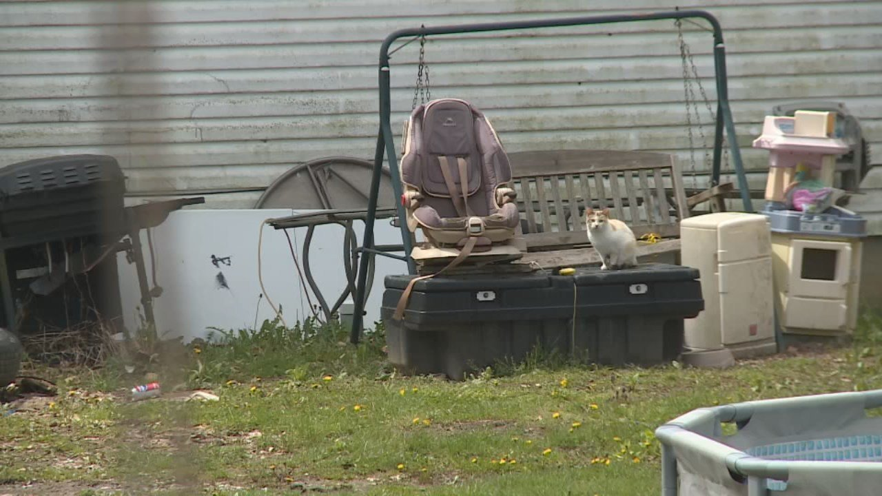Police arrested a mother at this home in Madison County, Kentucky on April 3, 2018.