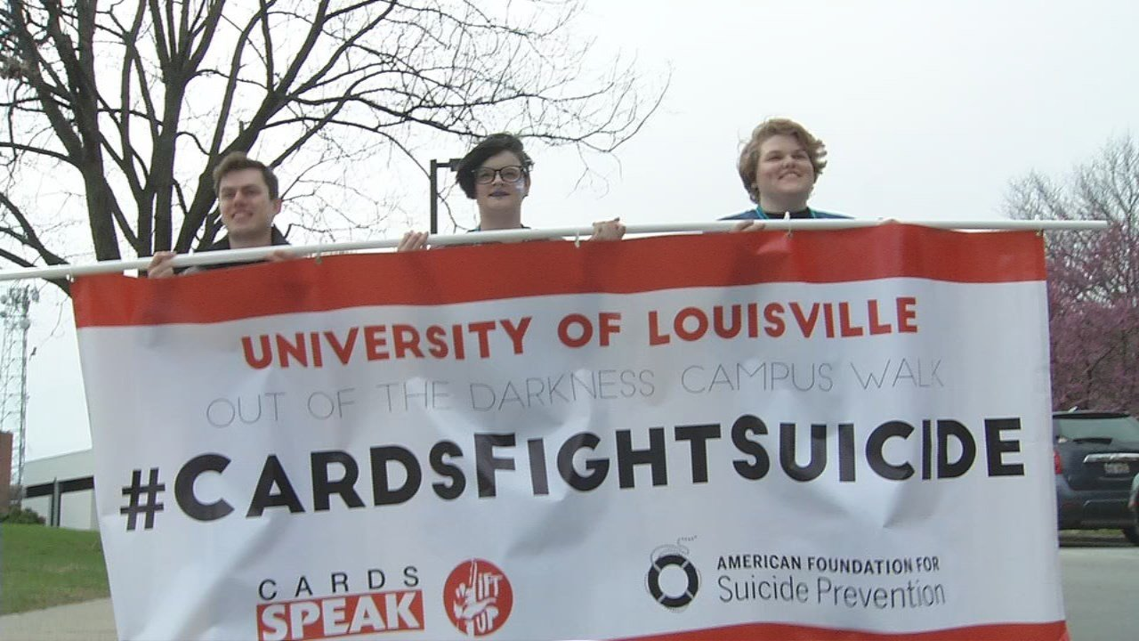 Sunday's walk was hosted by U of L's Cards SPEAK program.