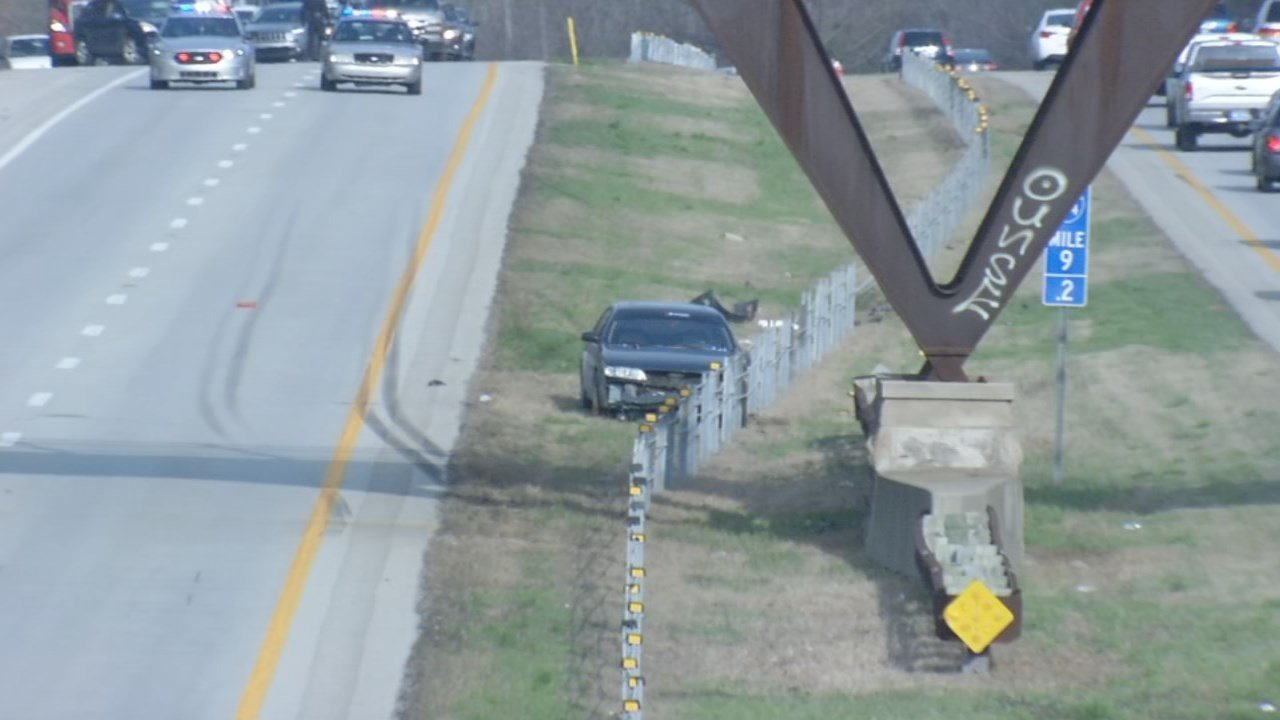 Police believe a medical emergency caused a man to crash his car on I-64E early on April 10, 2018.