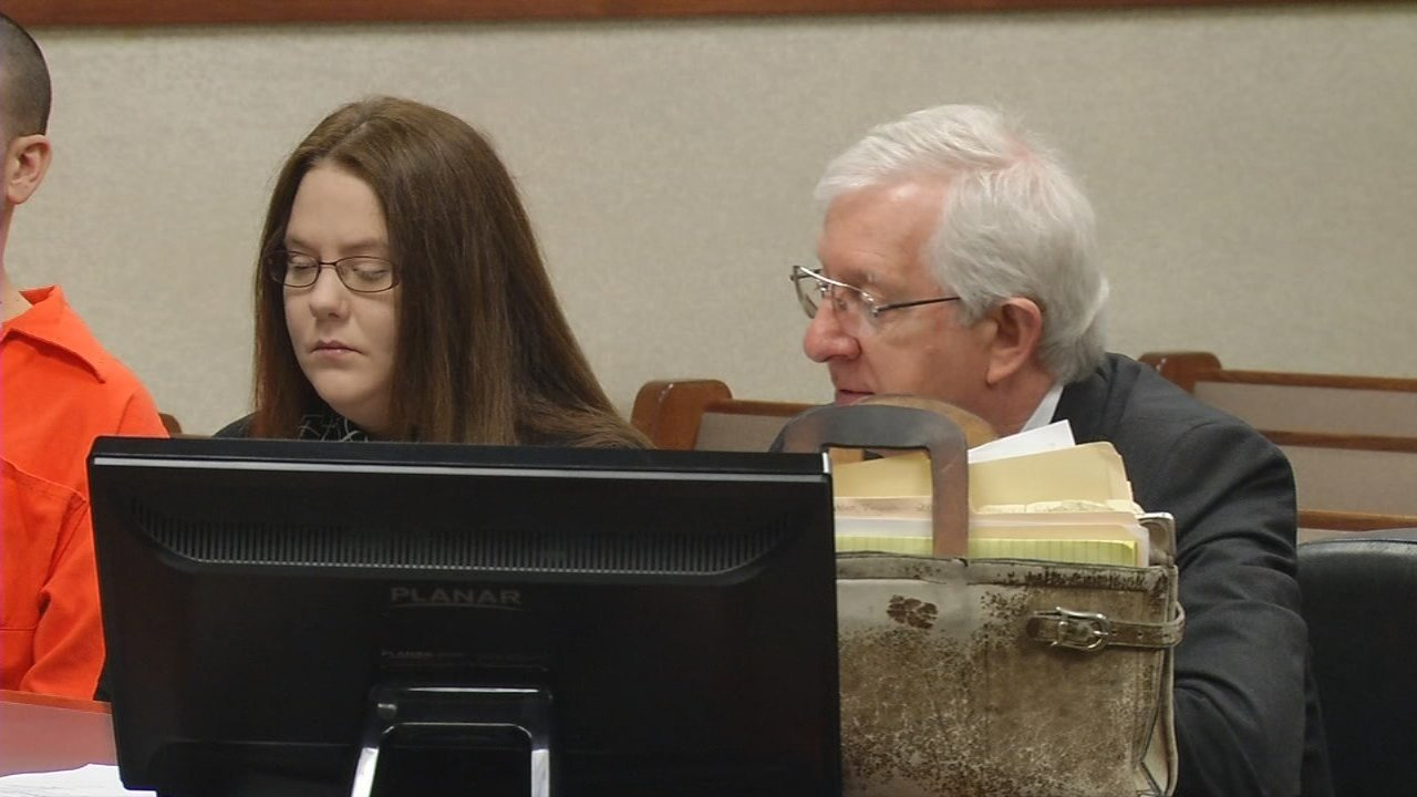 Rebecca Johnson during a court appearance in Louisville on April 10, 2018.
