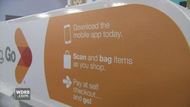The Kroger store on S. 2nd Street in Louisville is among the first in the country to introduce 'Scan, Bag & Go' technology.