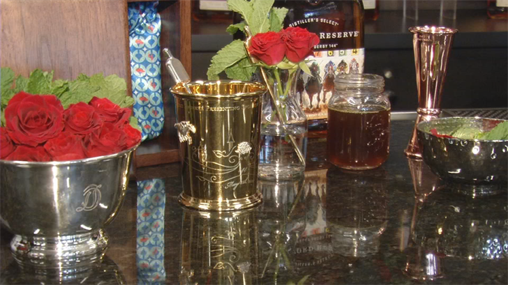 """The Woodford Reserve 2018 $1,000 Mint Julep features the """"Best of Kentucky."""" ingredients and design."""