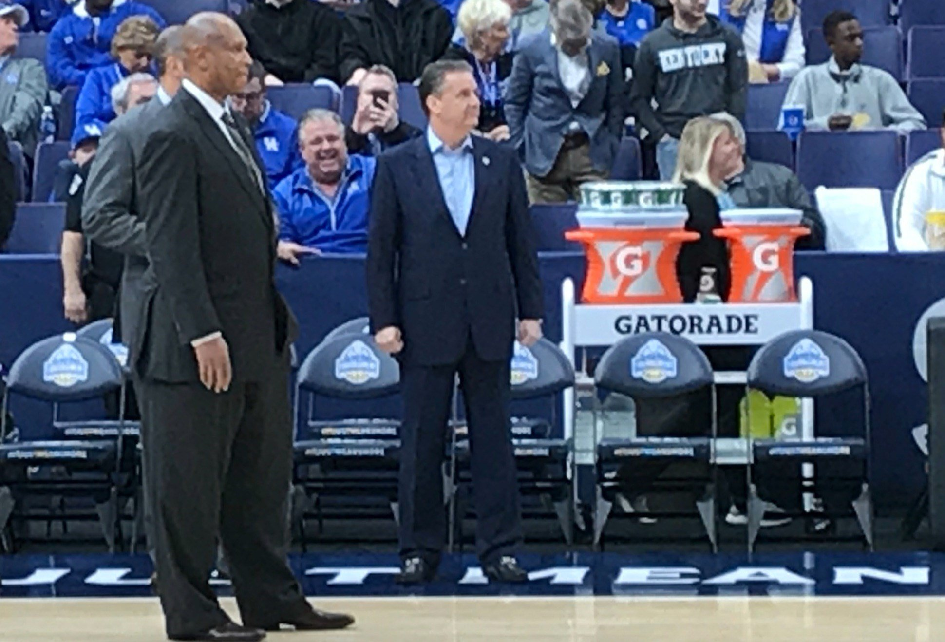 John Calipari (right) and Kenny Payne showed their recruiting mojo again this week with a pair of commitments from top high school players in Georgia.
