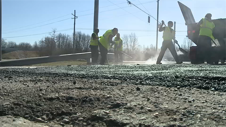 """Indiana is testing a new """"superpave 5"""" mix of asphalt."""