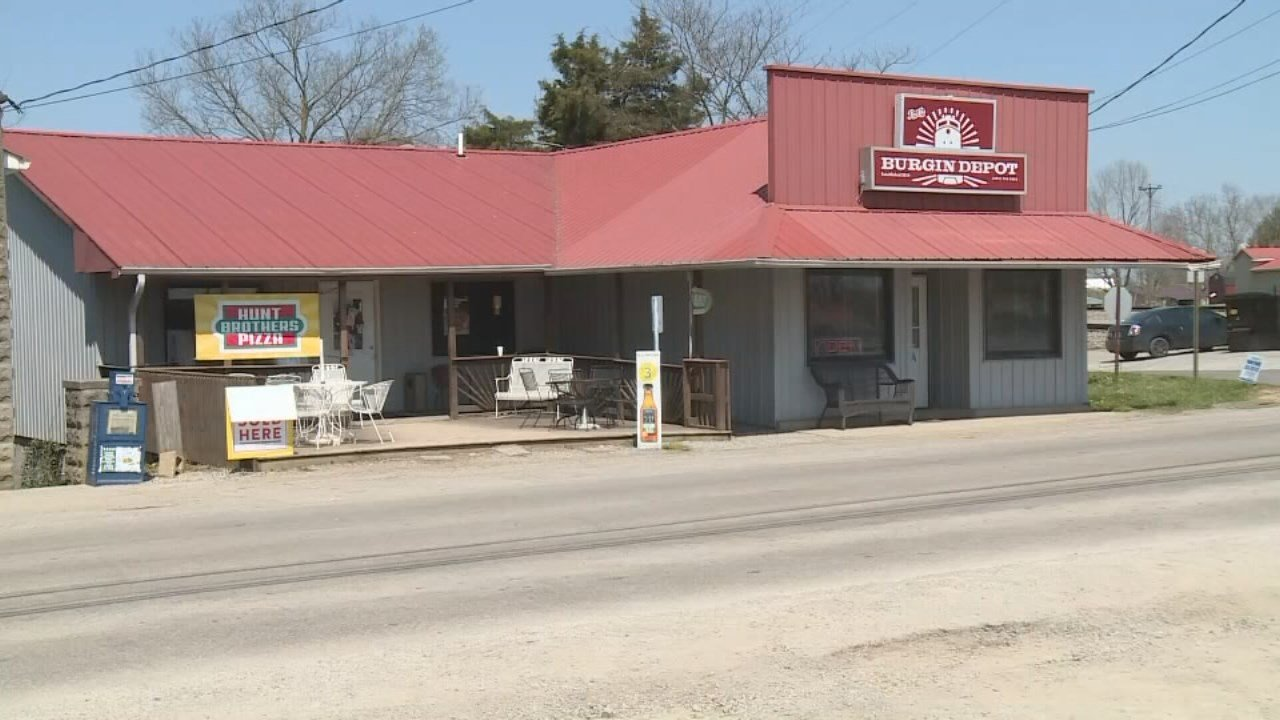 An angry resident of Burgin, Kentucky is accused of assaulting the mayor on the porch of the Burgin Depot.