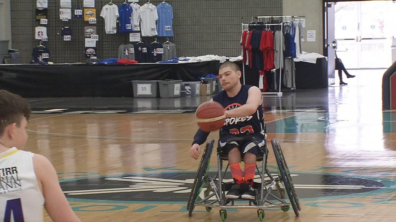 The National Wheelchair Basketball Tournament at the Kentucky Expo Center runs through Sunday, April 15, 2018.
