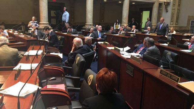 Members of the Kentucky Senate debate HB 169 - the gang bill.