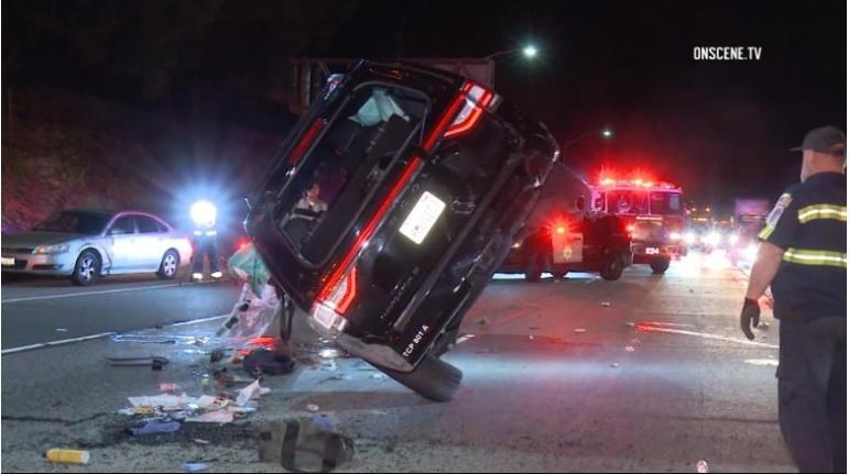 Actor Will Ferrell was involved in a rollover crash in California. (Photo Courtesy OnScene.TV)