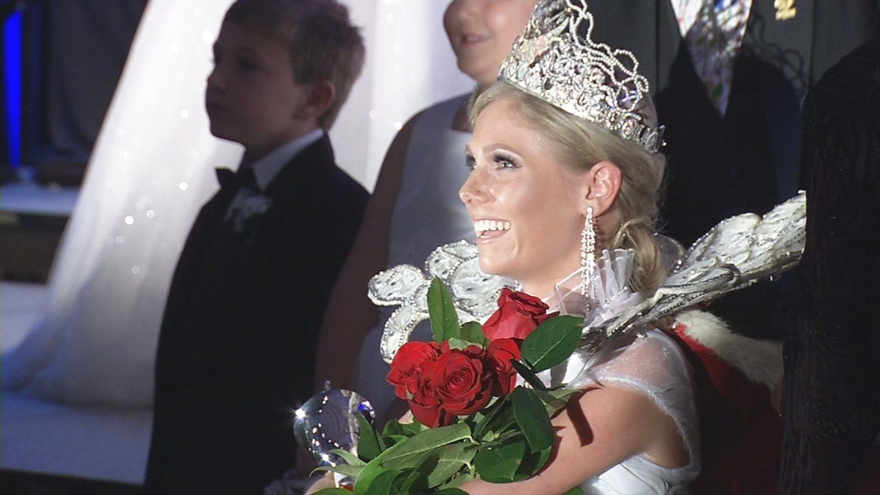 21-year-old Tara Dunaway was crowned the Kentucky Derby Festival Queen at the 60th Fillies Derby Ball.