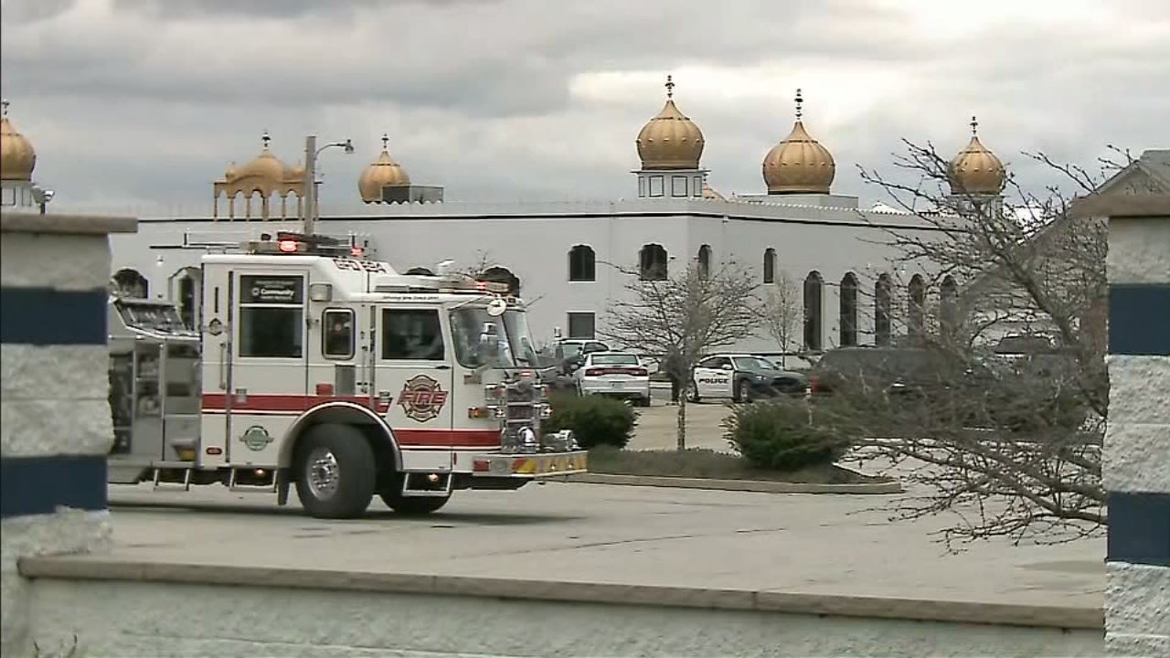 Police say four people were injured in a brawl at this temple in suburban Indianapolis.